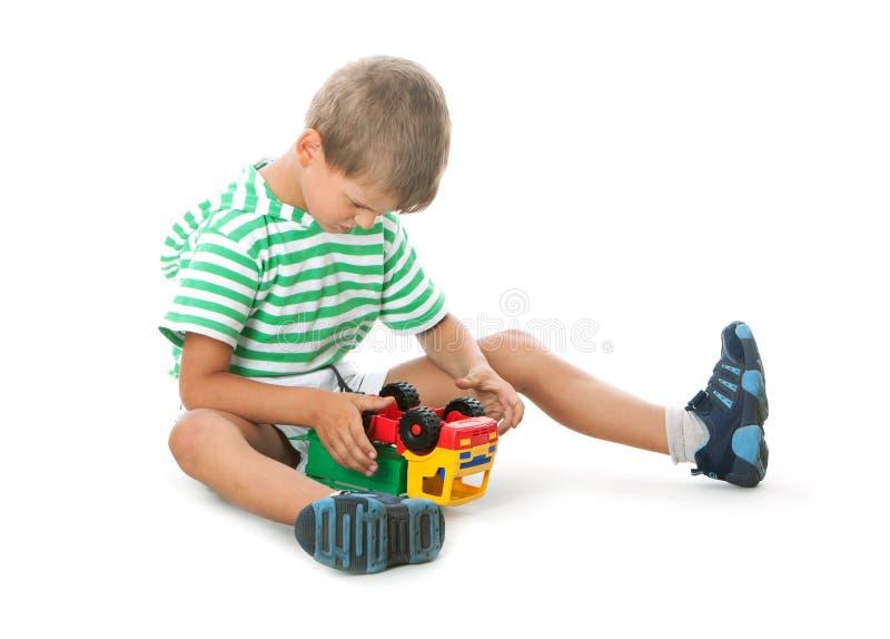 samochodowy chłopiec mienie zdjęcia stock