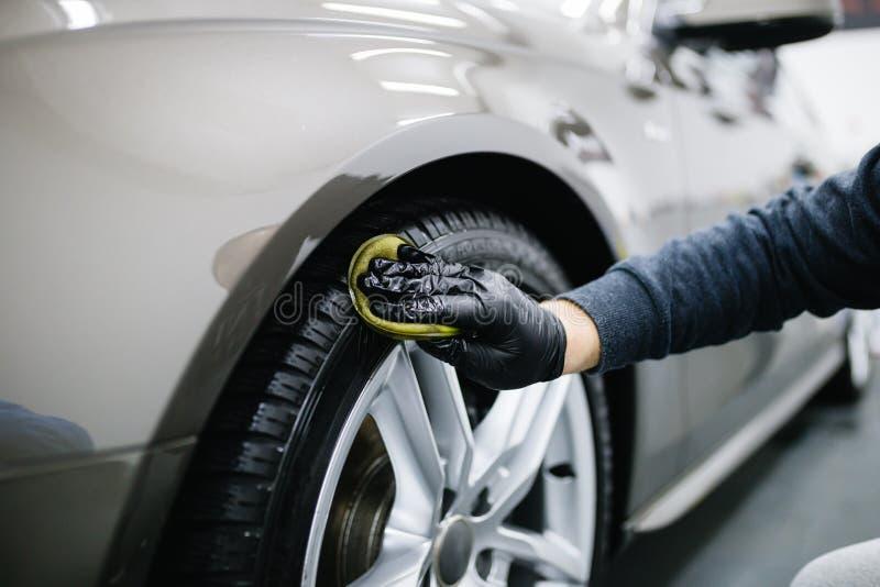 Samochodowy cleaning i froterowanie zdjęcia stock