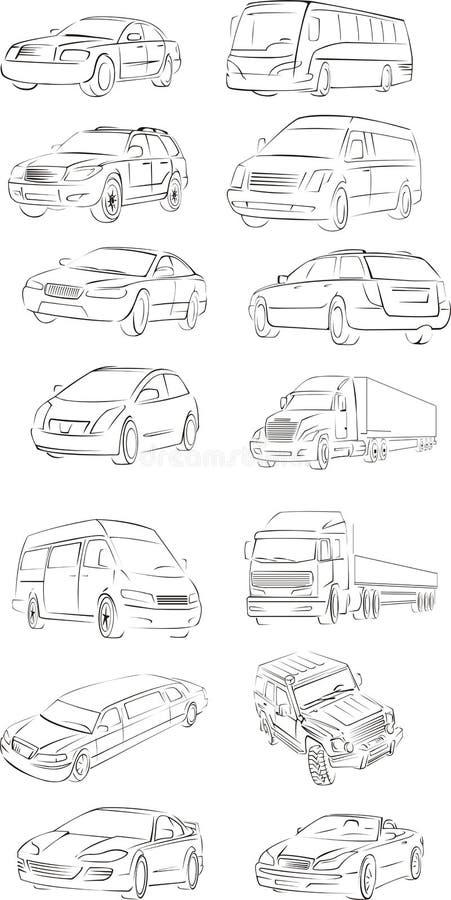 samochodowy contur ilustracja wektor
