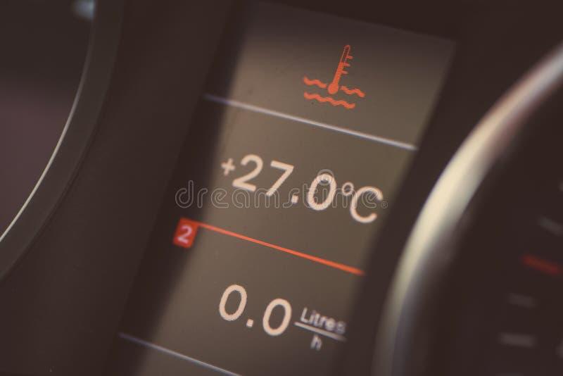 Samochodowy coolant ostrzeżenie obrazy royalty free