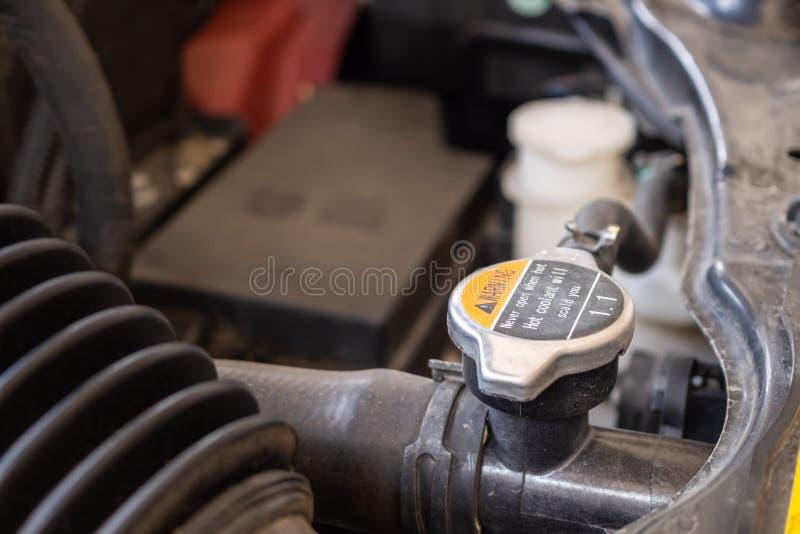 Samochodowy coolant systemu zbli?enie fotografia stock