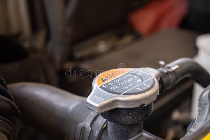 Samochodowy coolant systemu zbli?enie obrazy royalty free