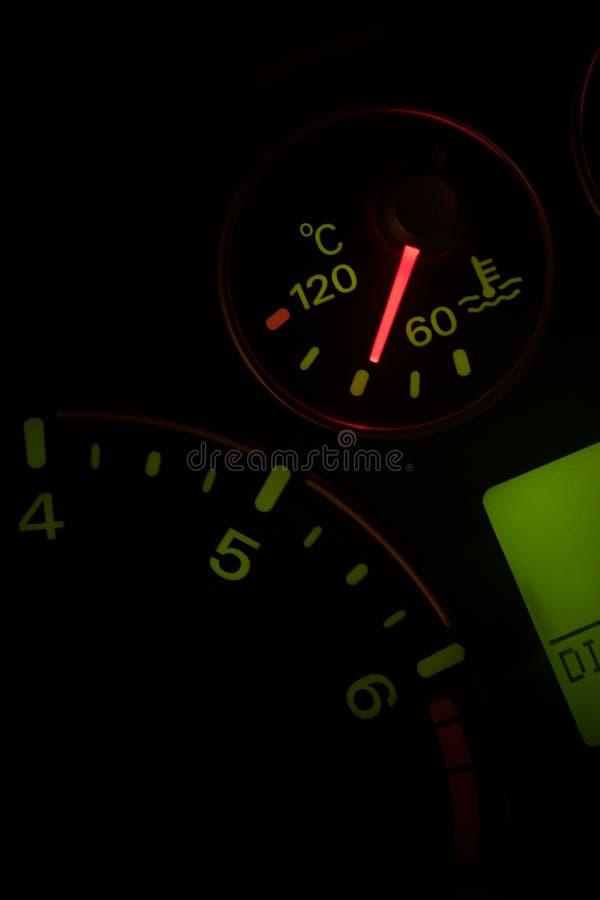 Samochodowy coolant temperatury wskaźnik zdjęcie royalty free