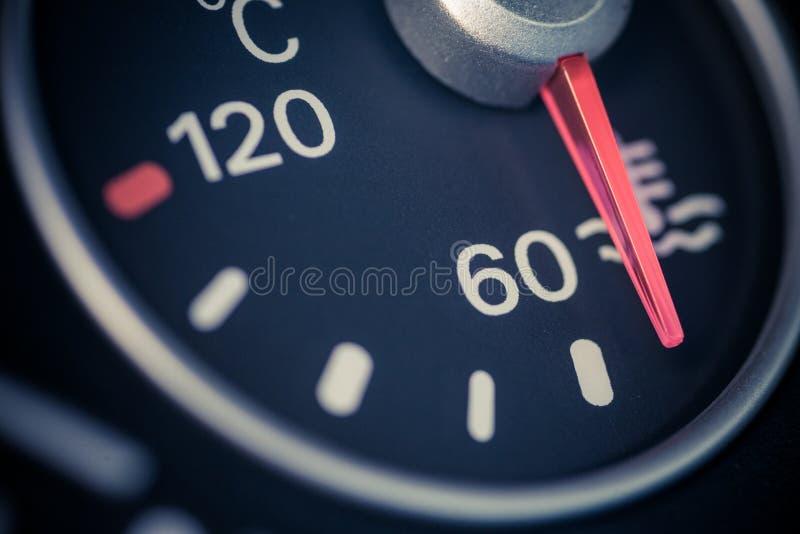 Samochodowy coolant temperatury wymiernik zdjęcie royalty free