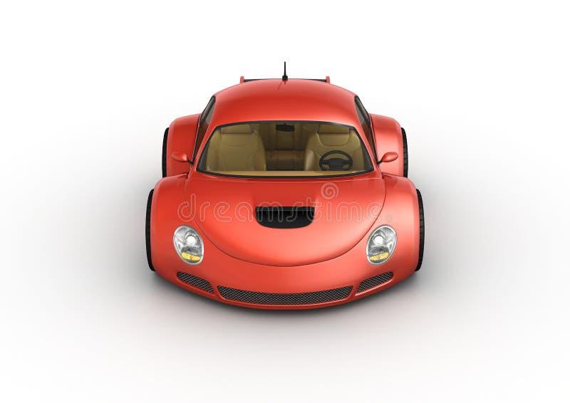 samochodowy czerwony sport ilustracja wektor