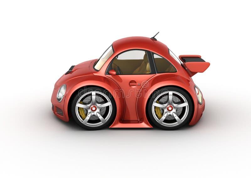 samochodowy czerwony sport royalty ilustracja