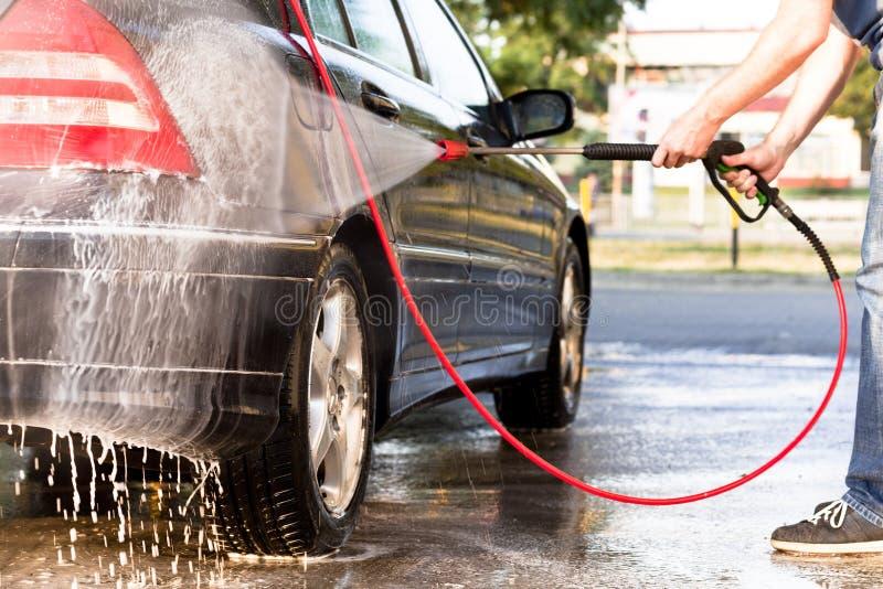 samochodowy czystości zakończenia pojęcie w górę domycia zdjęcie royalty free