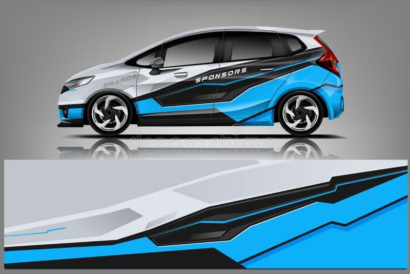 Samochodowy decal opakunku projekt Graficznego abstrakcjonistycznego lampasa tła zestawu bieżni projekty dla pojazdu, samochodu w royalty ilustracja
