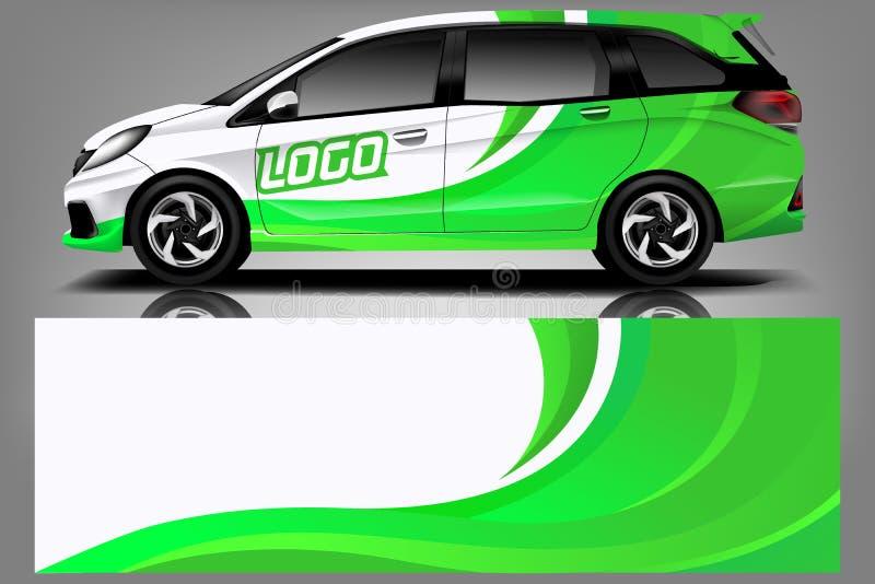 Samochodowy decal opakunku projekta wektor Graficznego abstrakcjonistycznego lampasa t?a zestawu bie?ni projekty dla pojazdu, sam ilustracja wektor