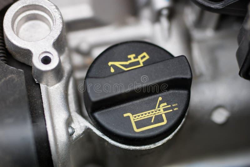 Samochodowy dipstick dla nafcianego pozioma pomiarów Sprawdzać parametry obrazy stock