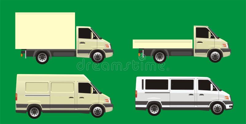 samochodowy doręczeniowy set ilustracja wektor