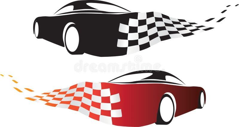 Samochodowy dryfować wokoło biegowego śladu kąta ilustracji