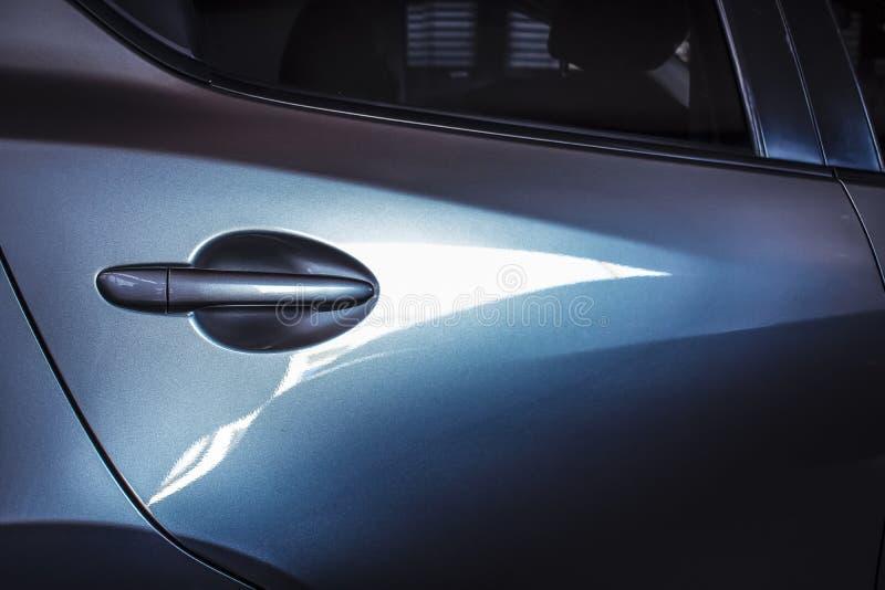 Samochodowy drzwi z mądrze keyless Dla automobilowego lub transportu obraz stock