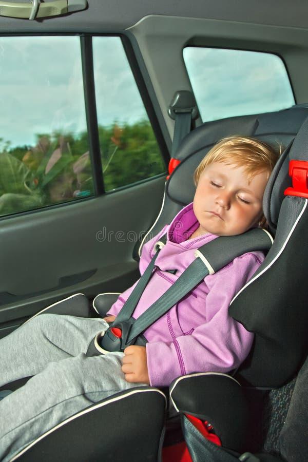 samochodowy dziecka siedzenia dosypianie obraz royalty free
