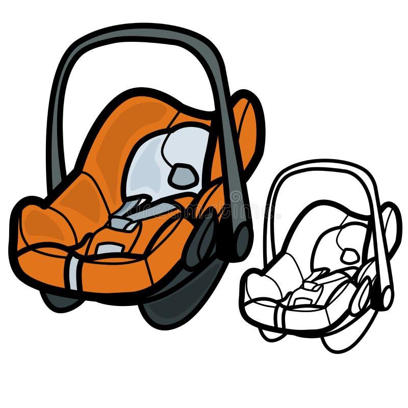 Samochodowy dziecka siedzenie ilustracja wektor