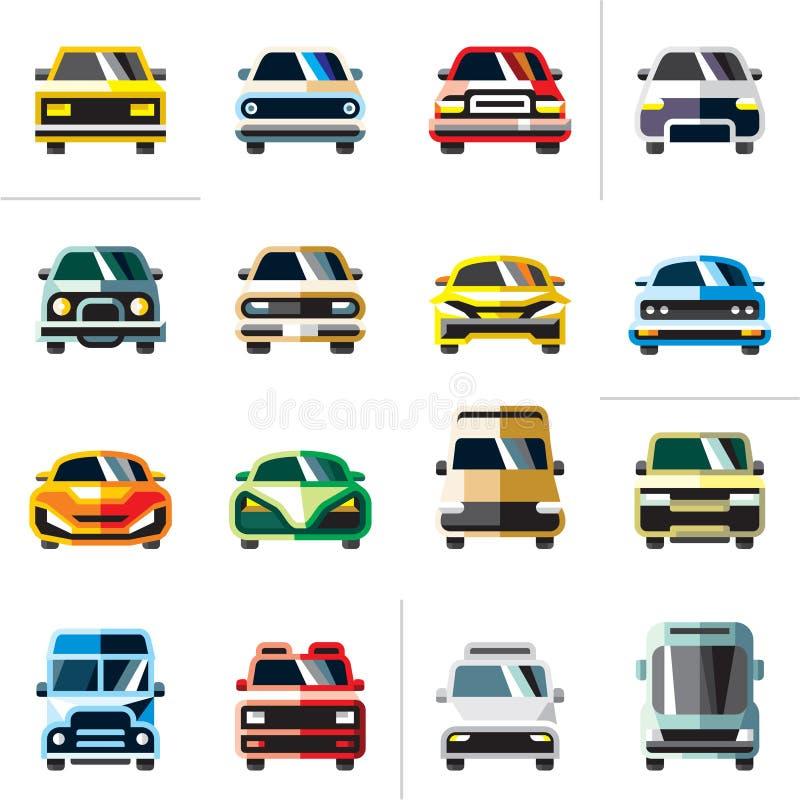 samochodowy eps10 ikony ilustraci wektor Samochodowy wektor ilustracji