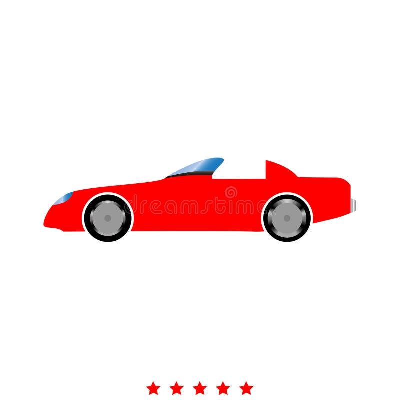 samochodowy eps10 ikony ilustraci wektor Mieszkanie styl ilustracja wektor