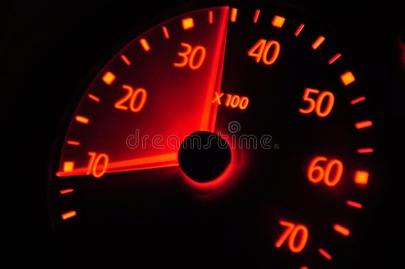 samochodowy europejski szybkościomierz fotografia royalty free