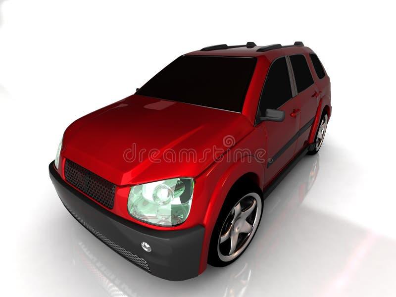 samochodowy frontowy widok ilustracji