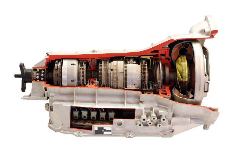 Samochodowy gearbox odizolowywający zdjęcia stock