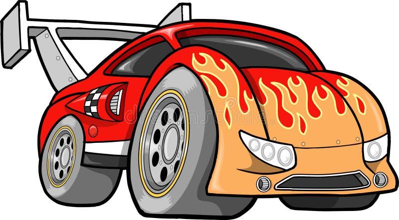 samochodowy gorący ilustraci rasy prącia wektor ilustracja wektor