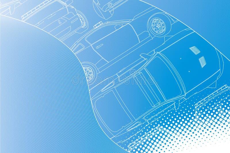 samochodowy gorący zarysowany super ilustracja wektor