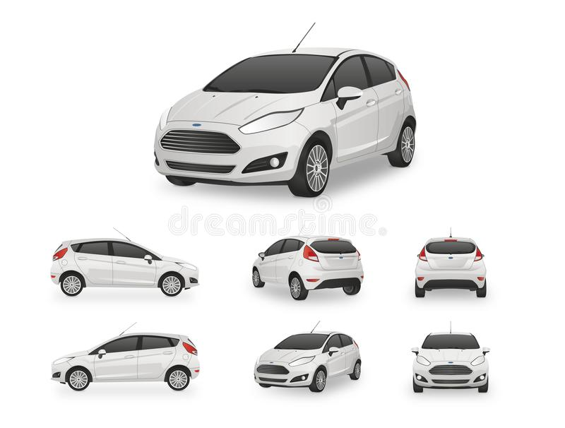 Samochodowy Hatchback wektor royalty ilustracja