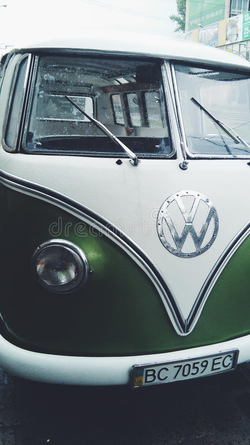 Samochodowy hipis, wolkswagen obraz royalty free