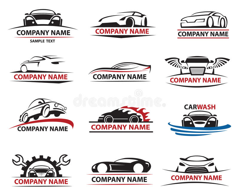 Samochodowy ikona set obrazy royalty free