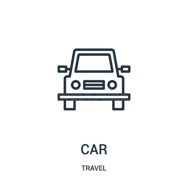 samochodowy ikona wektor od podróży kolekcji Cienka kreskowa samochodowa kontur ikony wektoru ilustracja Liniowy symbol dla używa ilustracji