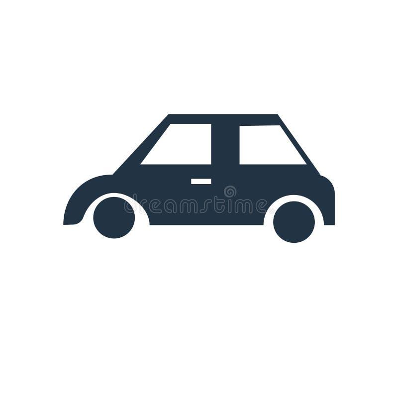 Samochodowy ikona wektor odizolowywający na białym tle, samochodu znak royalty ilustracja