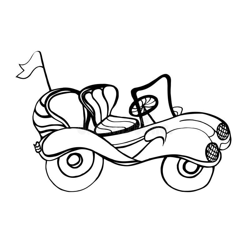 Samochodowy kabriolet royalty ilustracja