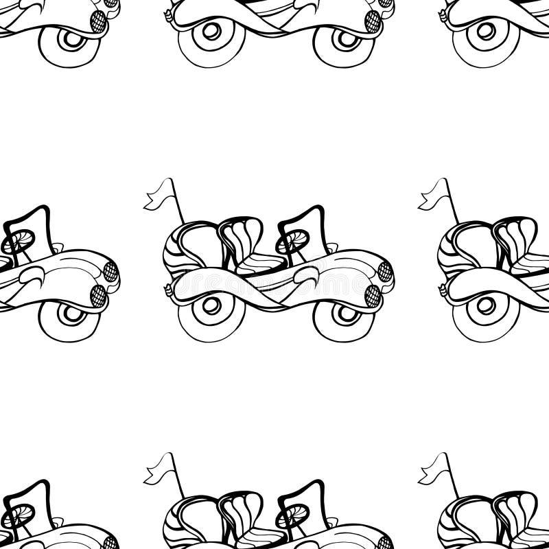 Samochodowy kabriolet ilustracja wektor