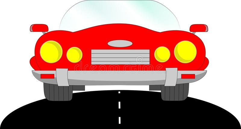 Samochodowy kabriolet, czerwień fotografia stock