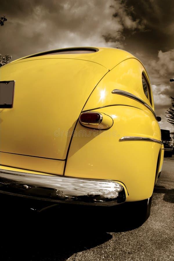 samochodowy klasyczny kolor żółty zdjęcie stock