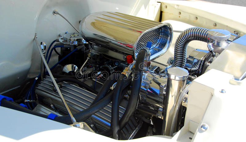 samochodowy klasyczny silnik zdjęcie royalty free