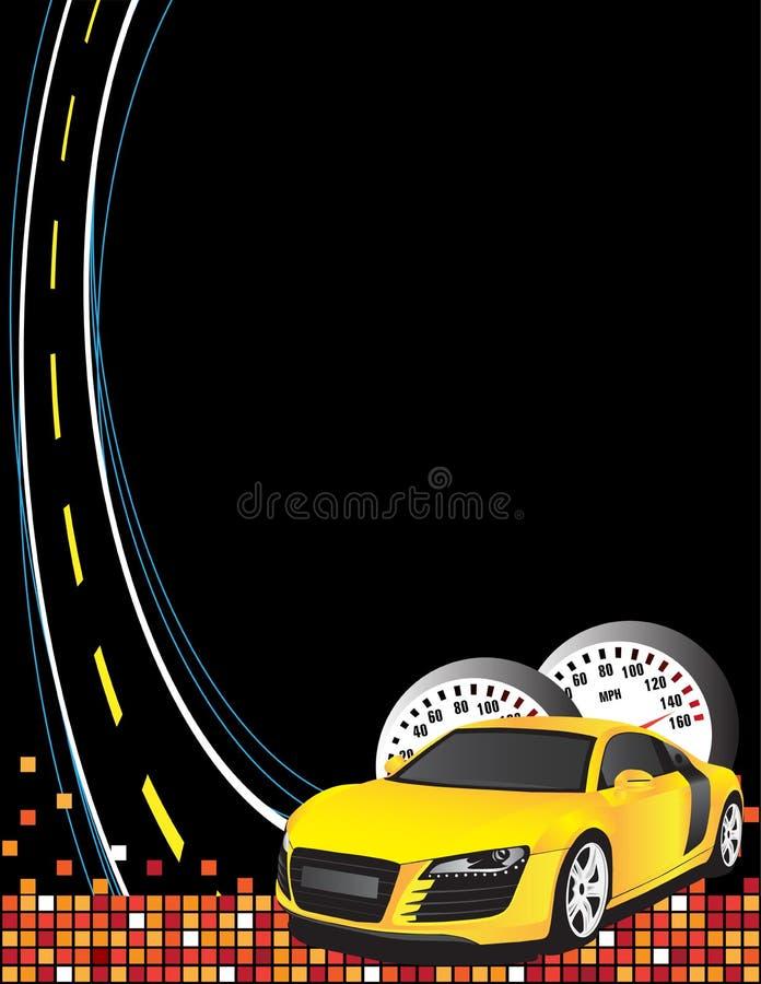 samochodowy kolor żółty royalty ilustracja