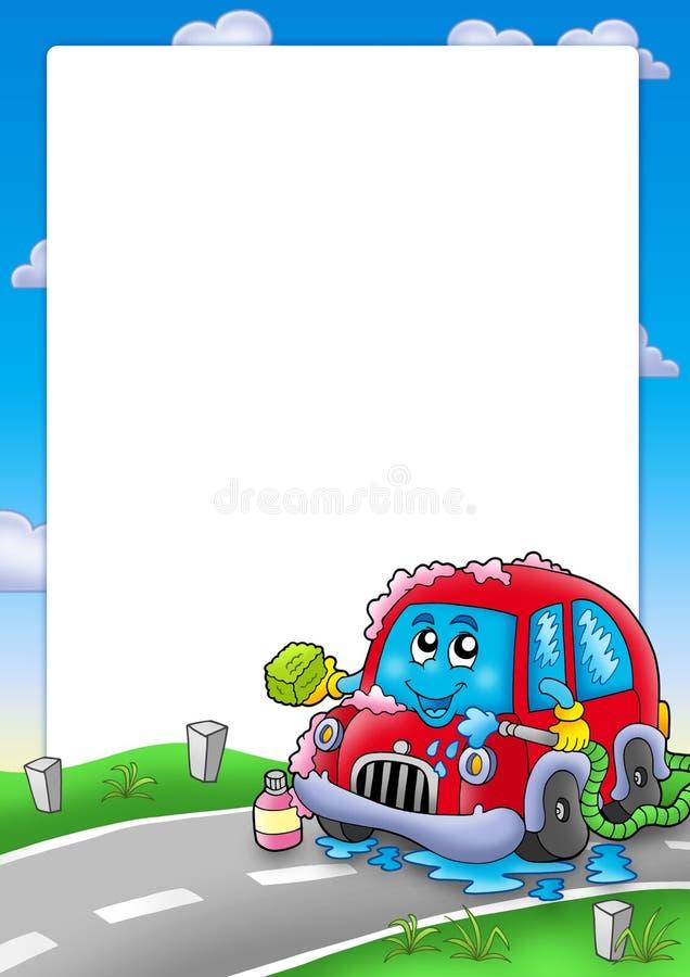 samochodowy kreskówki ramy obmycie ilustracja wektor