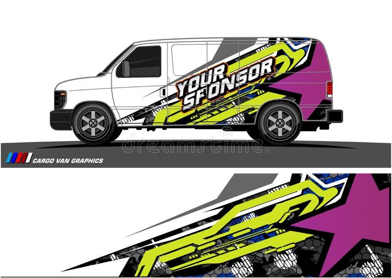 Samochodowy liberii grafiki wektor abstrakcjonistyczny bieżny kształta projekt dla pojazdu opakunku winylowego tła ilustracji