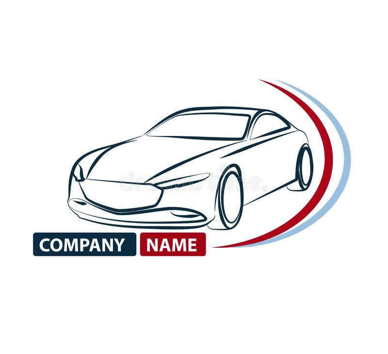 Samochodowy loga projekt Kreatywnie wektorowa ikona, Auto samochodowa logo ikona Logotyp, automobilowy logo ilustracji