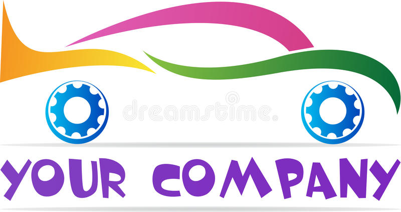 Samochodowy logo ilustracja wektor