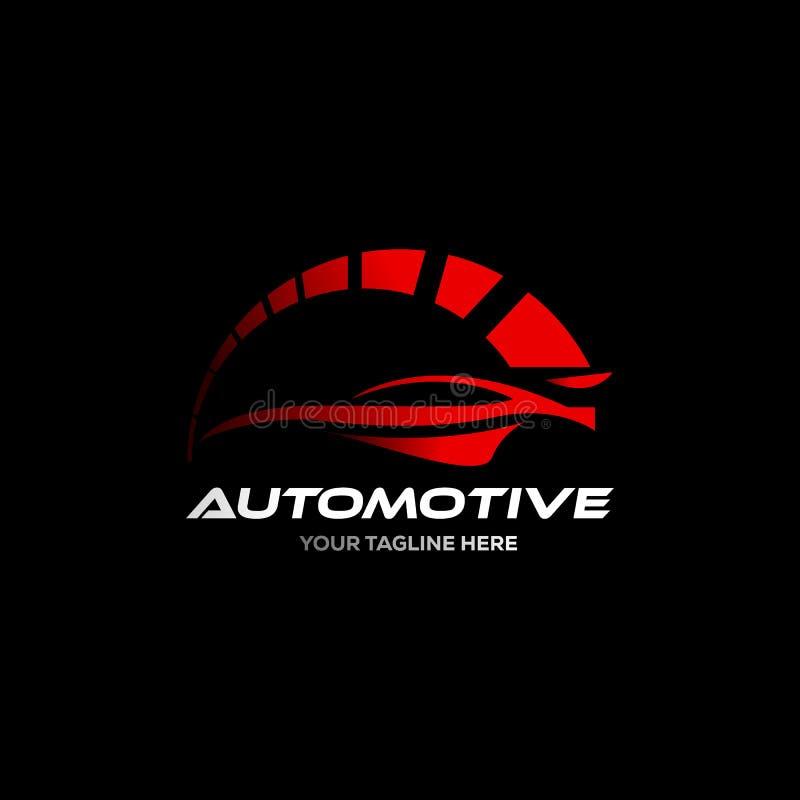Samochodowy logo w prostym kreskowym graficznego projekta szablonu wektorze royalty ilustracja
