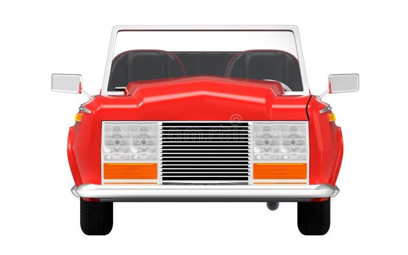 Samochodowy luksusowy kabriolet czerwieni przód royalty ilustracja
