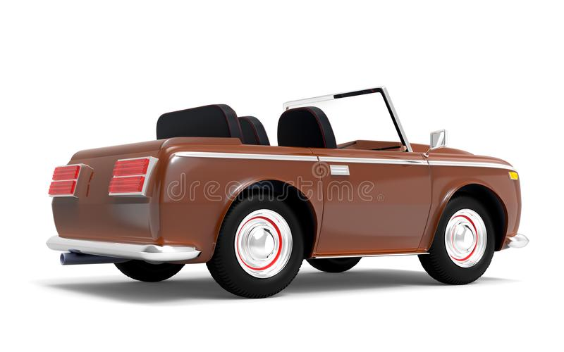 Samochodowy luksusowy kabrioletu brązu plecy ilustracja wektor