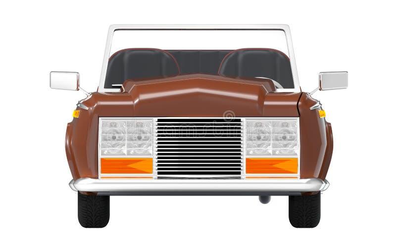 Samochodowy luksusowy kabrioletu brązu przód ilustracja wektor