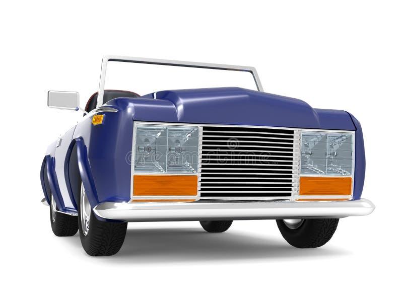 Samochodowy luksusowy kabrioletu zmrok - błękit royalty ilustracja