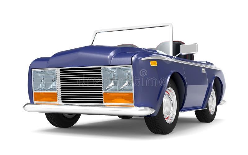Samochodowy luksusowy kabrioletu zmrok - błękit ilustracja wektor