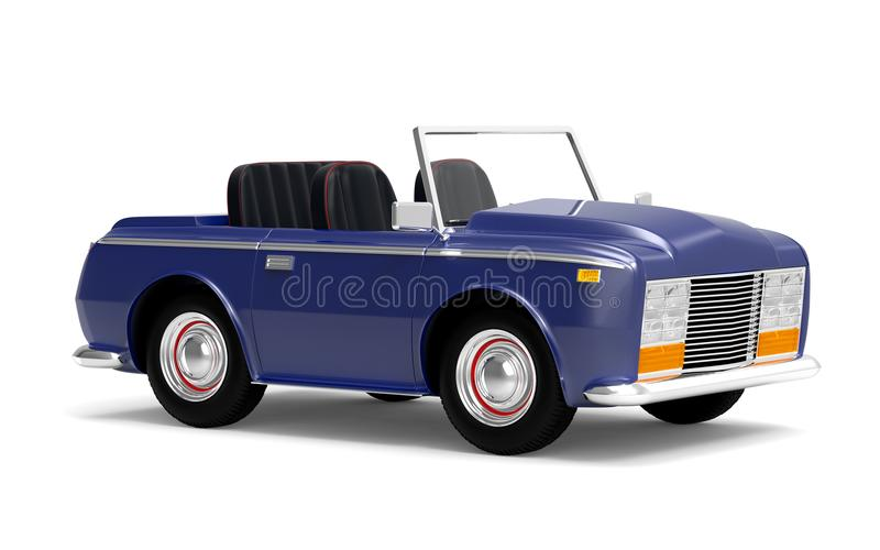 Samochodowy luksusowy kabrioletu zmrok - błękit ilustracji