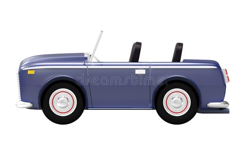Samochodowy luksusowy kabrioletu zmrok - błękit strona ilustracja wektor
