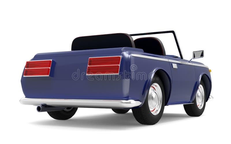 Samochodowy luksusowy kabrioletu zmrok - błękita plecy royalty ilustracja
